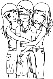 Small Picture Three Best Friends Coloring Page Wecoloringpage