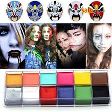 1 set 12 colors flash tattoo face paint oil painting art party fancy dress beauty makeup tools