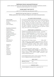 Ophthalmic Assistant Sample Resume Enchanting Ophthalmic Assistant Resume Colbroco