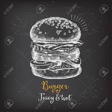 Menu Drawing Design Burger Menu Restaurant Badges Food Design Icons With Hand Drawing
