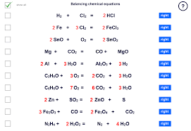 balancing chemistry equations