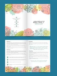 Two Page Brochure Template Two Page Brochure Template Or Flyer For Premium Clipart