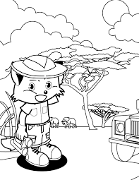 Small Picture Safari Coloring Page Handipoints