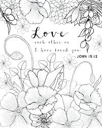 Love One Another Coloring Page Love One Another As I Have Loved You