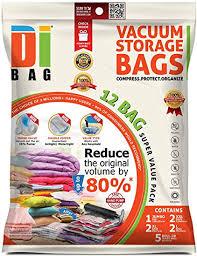 Amazon.com: Space Saver Vacuum Storage Bags - 12 Premium Travel ...