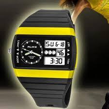 online buy whole left handed watches watches men from alike 50m waterproof left handed sport clock men tonneau double movement quartz digital led auto date