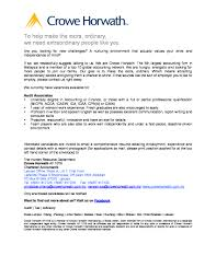 Audit Cover Letter Internal Report Examples Fresh Graduate Auditor