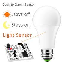 Day And Night Light Sensor Led Bulb Us 3 21 32 Off Ip44 Led Sensor Bulb Automatic Dusk To Dawn Bulb Day Night Light 10w 15w Spotlight Orange Yellow Warm White White For Home In Led