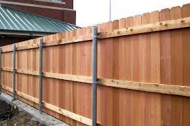metal frame wood fence wood 6 wood framed corrugated metal fence