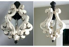 distressed white wood chandelier chandeliers french shabby