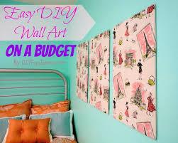 super easy fabric panel diy wall art on