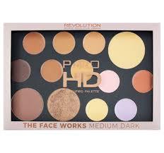 makeup revolution pro hd gesichtspalette um dark