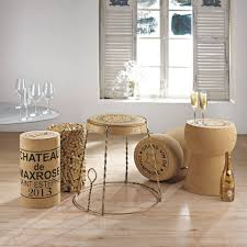 wine champagne cork stool tables champagne cage table