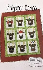 RCQ599, Ribbon Candy Quilt Co., Reindeer Games, 48 x 60 Wall ... & RCQ599, Ribbon Candy Quilt Co., Reindeer Games, 48 x 60 Wall Hanging Adamdwight.com