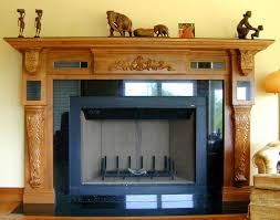 fireplace mantel with corbels and carvings wood fireplace mantel