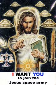 Image result for FAKE jesus will come back in a UFO