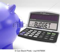 Budget Calculator Shows Spending And Costs Management Budget