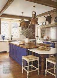 Kitchen:Country Spanish Kitchen With Blue Island Color And Vintage  Decoration 25+ Magnificent Spanish
