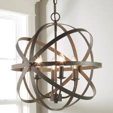 Entryway Light Fixtures Orbit Globe Chandelier 4 Light Globe Chandelier Rustic