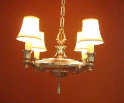 1920s colonial revival silver set one chandelier four sconces