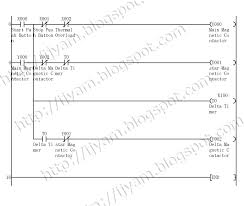 electrical wiring diagram star delta control and power circuit mitsubishi plc ladder logic program for the star delta motor control circuit