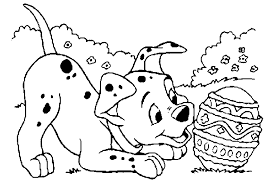 Small Picture Coloring Pages Of Dalmatian Dogs And Easter Egg Cartoon Coloring