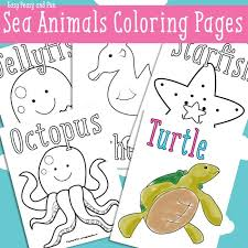 In coloringcrew.com find hundreds of coloring pages of animals and online coloring pages for free. Ocean And Sea Animals Coloring Pages Free Printable Easy Peasy And Fun