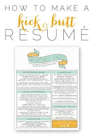 How To Make A Resume How To Make A Kick Butt Resumé Whitney Blake Design Color And 22