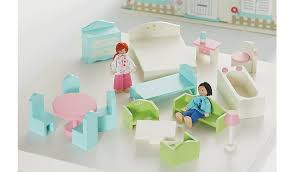 cheap dolls house furniture sets. George Home Wooden Dolls House Furniture Set Cheap Sets