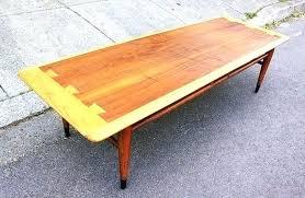 mid century lane coffee table surfboard interiors furnishings with regard to acclaim refinish sur