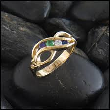 infinity mothers ring. gemstones to select from · infinity knot mother\u0027s birthstone ring in 14k gold mothers n