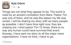 Suspect Kyle Odom claims shooting victim a 'Martian' on Facebook ...
