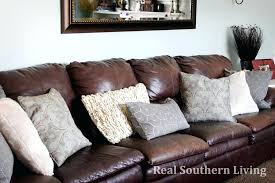 decorative pillows for brown leather sofa redglobalmx org with decorations 2