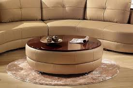 glass top round ottoman coffee table