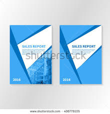 business report cover page template business report booklet cover brochure layout stock vector