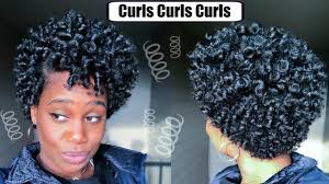 perm rod set on short natural hair video