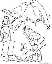 Small Picture Winter Bird Feeder Coloring Page Pages Sketch Coloring Page