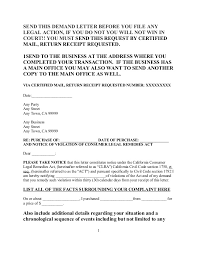 free sample demand letter under consumer legal reme s act for california 1 638 cb=