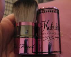 too faced kabuki brush. too faced teddy bear hair retractable kabuki brush o