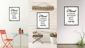 office motivation ideas. A Friend Is Someone Who Knows All About You Quote Saying Gift Ideas Home Decor Wall Office Motivation Z