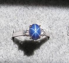star sapphire ring blue star sapphire