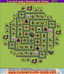 Layouts Cv9 Para A Guerra De Clans Clash Of Clans Dicas