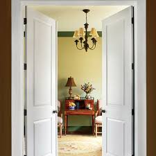high quality interior solid wood double doors with tempered glass inserts