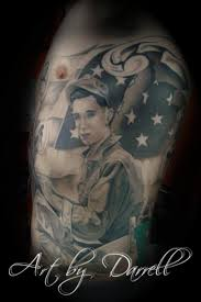 Lucky Bamboo Tattoo : Tattoos : Darrell Palmer : Black and Gray Military  Portrait