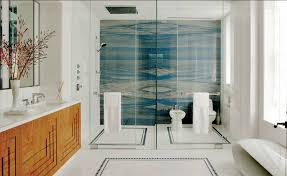 Juan Montoya Design via Interiors. Shower is two bookmatched slabs of Azul  Macauba quartzite. Stuh-nning!