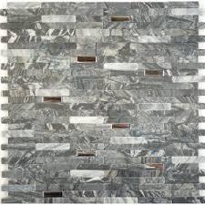 mosaic stone tile backsplash. Wonderful Stone Mosaic Tile Backsplash Interlocking Polished Stainless Steel And Grey Stone  Tiles Random Bricks Metal 10PCS Intended A