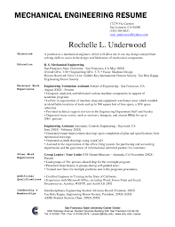 Objective In Resume For Fresh Graduate Mechanical Engineering
