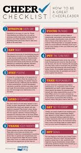 cheer checklist how to be a great cheerleader infograph omni great cheerleader infograph