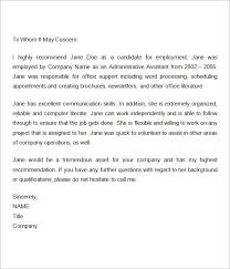 reference letter from employer employer recommendation letter sample 9 examples in word pdf