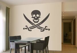 pirate symbol wall decal vinyl decor for pirates pirate wall decor